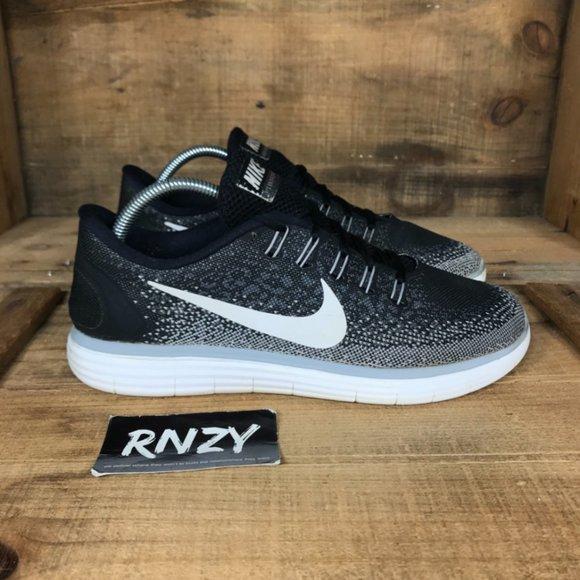Nike Free RN Distance Black Comfort Running Shoes